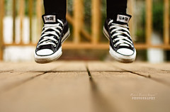 in the air (.OhSoBoHo) Tags: selfportrait me canon 50mm jump converse allstar chucks chucktaylor intheair selfie 10secondtimer canoneos40d firstjumpshotwiththefifty