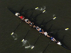Crew (historygradguy (jobhunting)) Tags: people ny newyork sports water river person boat athletics sitting candid upstate down row poughkeepsie crew sit rowing hudsonriver athletes seated dutchesscounty rowers hudsonvalley