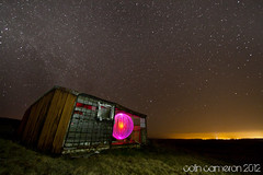 Star Shelter (Colin Cameron ~ Photography ~) Tags: longexposure nightphotography lightpainting night stars scotland colours orb oldhouse glowing tamron isleoflewis hebrides lightstreams stornoway moorhouse airidh Astrometrydotnet:status=failed canon7d lightjunkies tamron1024mm blinkagain Astrometrydotnet:id=alpha20120429324861