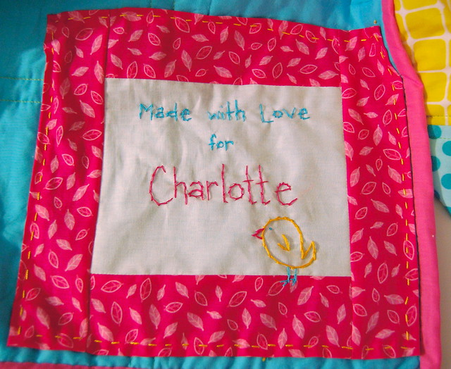 Chasing Charlotte Quilt label