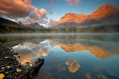 Morning Reflection (Dan Warkentin) Tags: sky mountain reflection water sunrise pond wedge canadianrockies digitalcameraclub nspp danwarkentin