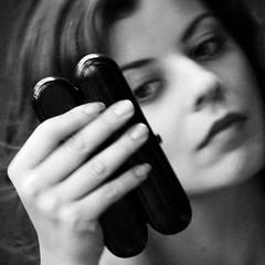 Carina (Martha MGR) Tags: portrait people blackandwhite bw square blackwhite pessoa retrato bianconero monocrome blackwithe mmgr canoneosdigitalrebelxs marthamgr bestportraitsaoi marthamariagrabnerraymundo marthamgraymundo flickrstruereflection1 flickrstruereflection2