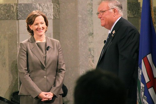 Premier Alison Redford at her swearing-in ceremony on October 7, 2011.