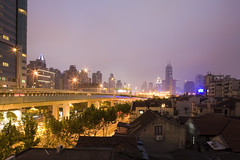 Shanghai (arndalarm) Tags: china light night licht highway shanghai motorway autobahn   shanghaiist  jingandistrict arndalarm  shanghaitattoo yananzhonglunacht mg2547cure25c50eklein