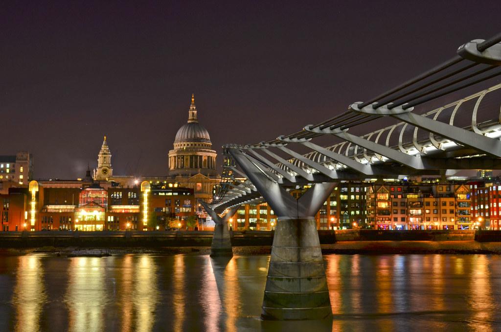Millennium Bridge HDR by garryknight, on Flickr