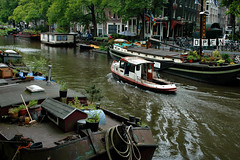 Canals of Amsterdam (LimeWave Photo) Tags: city travel bridge holland netherlands amsterdam outdoors town canal capital grachtengordel canalsofamsterdam limewave