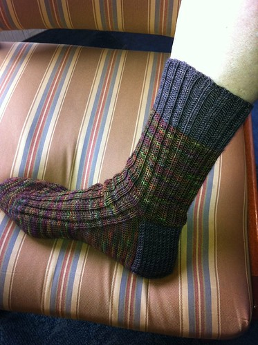 Side view of DH's Earth Rare Gem socks by BlueDragon2