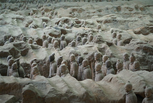 View from the right side of the Terracotta Army