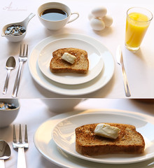 White Morning (ANOODONNA) Tags: lighting morning food white cup glass coffee canon photography eos natural juice toast knife fork spoon butter eggs l usm jam f28 canonef2470mmf28lusm ef naturallighting foodphotography 2470mm تصوير 50d whitemorning طعام عصير قهوة canoneos50d alrasheed alanood العنود الرشيد anoodonna العنودالرشيد alanoodalrasheed