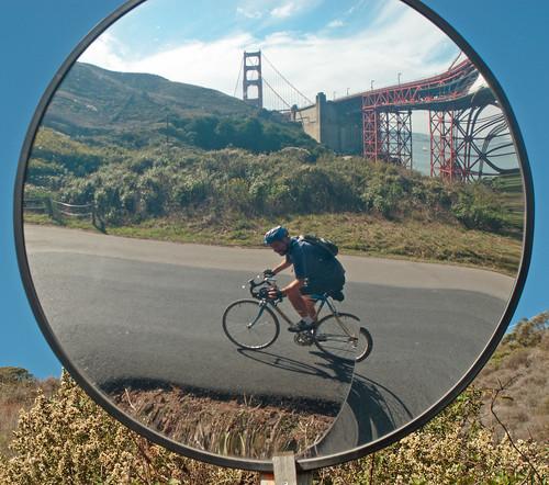 Golden Gate mirror panda