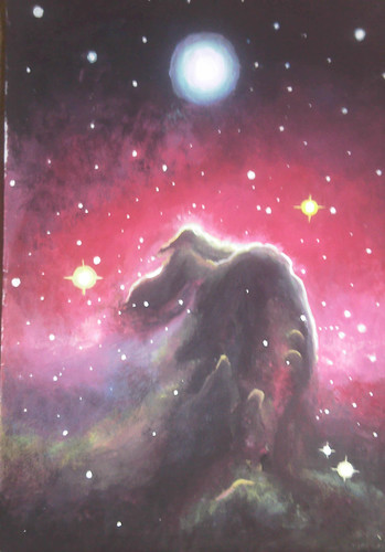 My painting of the HorseHead Nebula - Nebuloasa cap de cal pictura