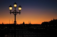 Returning Home... Solnedng Stockholm Strandvgen (Maria_Globetrotter) Tags: sunset silhouette night sweden st