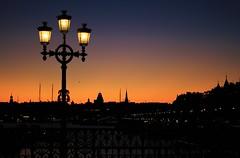 Returning Home... Solnedång Stockholm Strandvägen (Maria_Globetrotter) Tags: sunset silhouette night sweden stockholm schweden clear sverige lamps stoccolma solnedgång lampo strandvägen sztokholm 斯德哥尔摩 ستوكهولم djurgårdbron