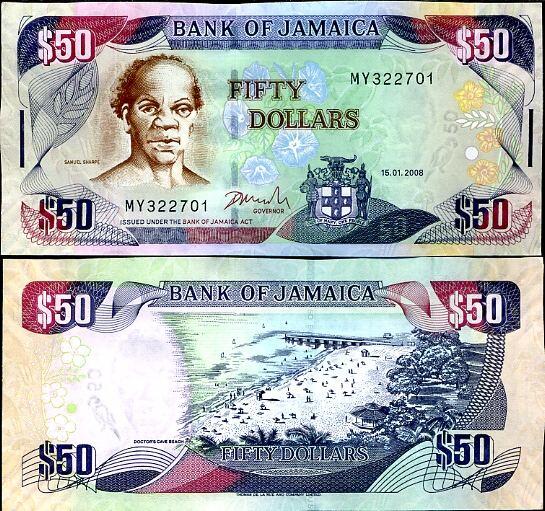 50 Dolárov Jamajka 2008