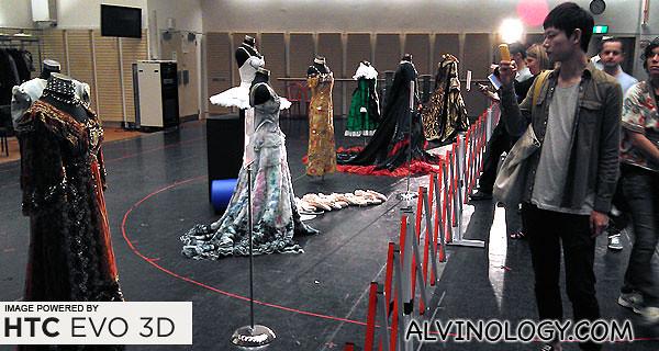 More garish set costumes on display