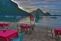 dinner on the beach (Rex Montalban Photography) Tags: philippines hdr elnido palawan photomatix rexmontalbanphotography pselements9
