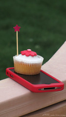 (  ) Tags: white green star cupcake iphone