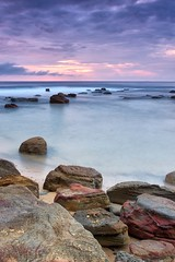 Coalcliff Landscape (James.Breeze) Tags: ocean seascape beach water sunrise landscape sand rocks raw seascapes cloudy australia nsw breeze reef saltwater northernbeaches beachsunrise canonef1740mmf4l ef1740mmf4lusm bestofaustralia jamesbreeze