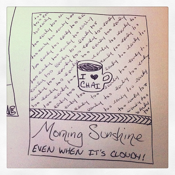 Happy Monday, friends! Hoping you have your morning sunshine in whatever form it comes!