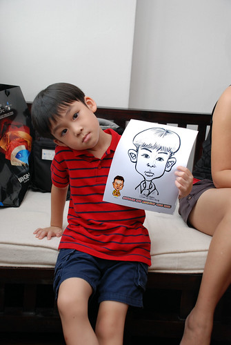 Caricature live sketching for Jonah's birthday party - 7
