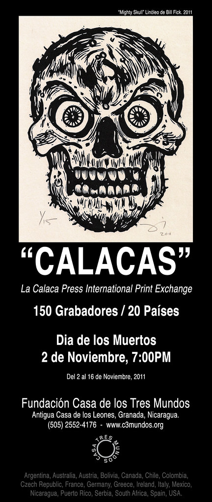 La Calaca Press International Print Exchange at Casa de los Tres Mundos
