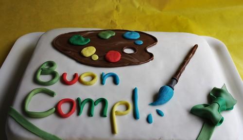 torta in pdz per una giovane artista