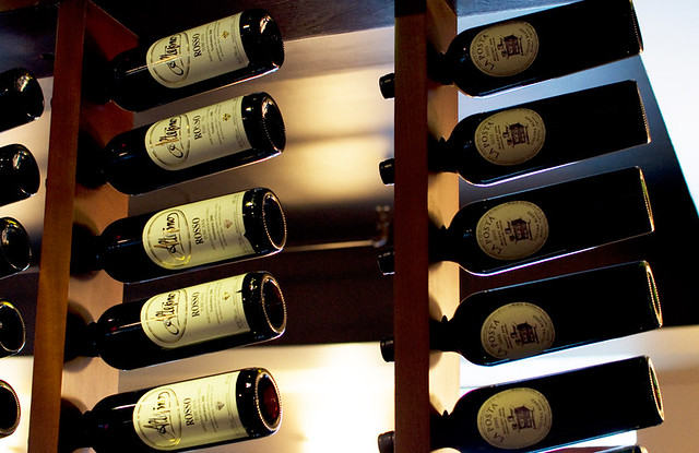 Cafe Il Nido wine selection