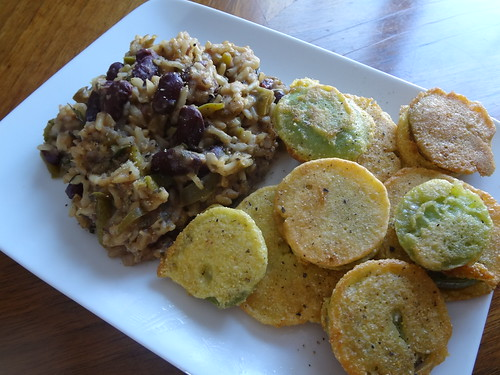 2011.10_fried green tomatoes and red beans and rice