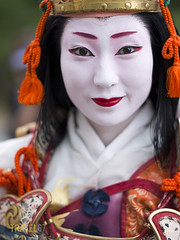 Jidai Matsuri, Imperial Palace, Kyoto (Travel 67) Tags: people festival japan female asian japanese asia places honshu kyotoprefecture womanladyadult jidaimatsurifestivalofageskyoto