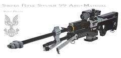 Halo: Reach SRS99 Anti-Matriel (Nick Brick) Tags: life gun lego rifle halo system size 99 sniper reach anti matriel unsc nickbrick srs99