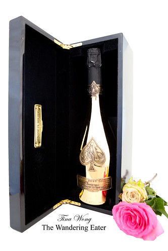 Armand de Brignac Brut Gold Champagne, inside the open box