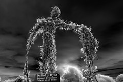 WickerMan Cometh on Halloween (Anthony Owen-Jones) Tags: uk longexposure blackandwhite seascape black halloween monochrome wales canon lens landscape eos rebel mono bay landscapes photo seaside kiss europe long exposure moody unitedkingdom north picture gimp filter photograph nd kit postprocess bnw conwy t3i x5 rhosonsea colwynbay northwales rhos colwyn 600d takenwith 10stop nd110 canonefs1855mmf3556is rebelt3i kissx5