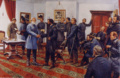 "Lee Surrenders at Appomattox • <a style=""font-size:0.8em;"" href=""https://www.flickr.com/photos/69122677@N02/6300339663/"" target=""_blank"">View on Flickr</a>"