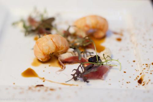 Langoustine and Joselito ham, Alimentum