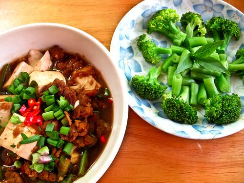 IMG_0096 Lunch : tofu + broccoli
