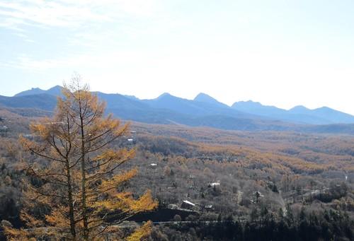 蓼科高原と八ヶ岳連峰 2011年11月1日10:31 by Poran111