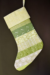 Striped Stocking Tutorial (Jeni Baker) Tags: modern quilt handmade sewing quilting finished stitching block projects quilts crafting