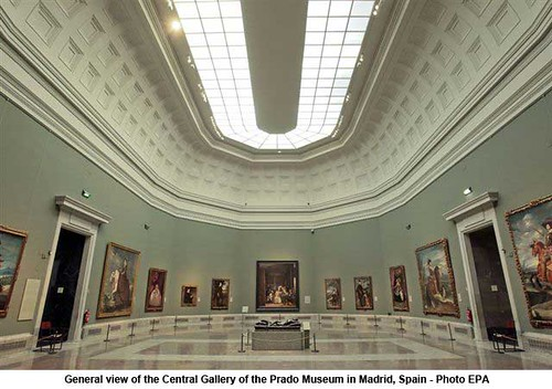 General view of the Central Gallery of the Prado Museum in Madrid, Spain by artimageslibrary