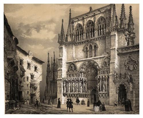 015-Puerta Alta catedral de Burgos-España artística y monumental..Tomo II- 1842-1850-Genaro Perez de Villa-Amil