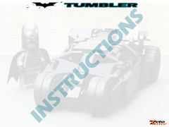 Tumbler's Instructions (ZetoVince) Tags: car dark greek lego vince batman vehicle knight instructions batmobile tumbler zeto zetovince
