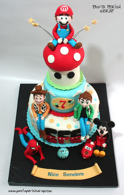 Mario-spiderman-cars-ben 10 -Toys3-mickey mouse cake - EFE