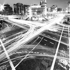 traffic (planet-110) Tags: longexposure nightphotography urban japan night tokyo cityscape multipleexposure   platinum traffictrails   lightstream urbannightshot