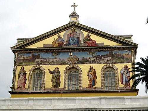 Mosaico de la fachada