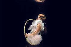 the final act (leslie.june) Tags: hoop dark underwater surreal bubbles wig float underwaterphotography lesliejunephotography underwaterlesliejune