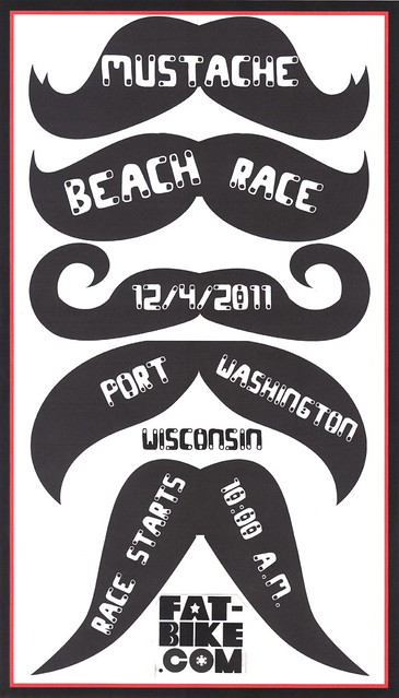 mustache beach race flyer