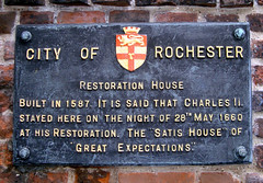 Photo of Charles II of England and Restoration House  black plaque