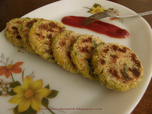 Poha (Rice Flakes) Cutlets