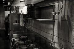 work, short order cook (StephenCairns) Tags: blackandwhite bw kitchen japan night work restaurant cook 日本 岐阜 gifu shortordercook 白黒 岐阜県 30mmsigmaf14 canon50d 岐阜市 50dcanon cookinguntensils
