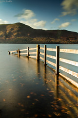 Catbells (Buckles Photos) Tags: lake reflection water fence lakes lakedistrict cumbria derwentwater catbells