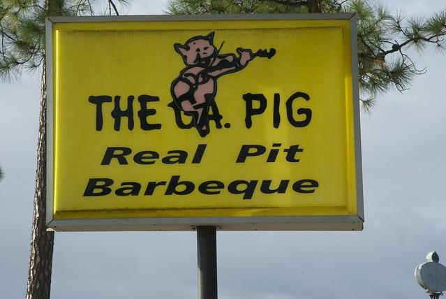 Georgia Pig sign